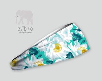 Flower Printed Headband, Thin or Thick Headband, Non Slip Headband, Yoga headband, Custom Headband, Women's headband, Indie Headband