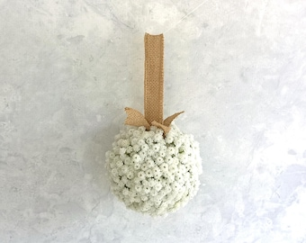 Flower Girl Pompadour with Real Touch Baby's Breath and Jude Trim