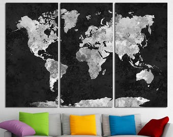 World map canvas etsy quick view world map canvas gumiabroncs Image collections