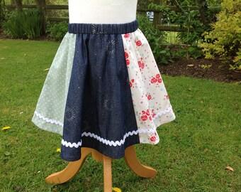 Girls Panel Skirt, girls skirt