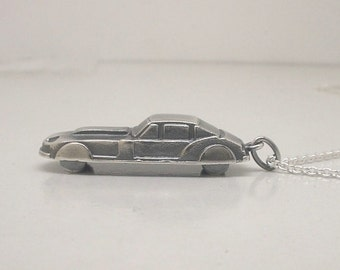 Sterling Silver Sports Car Charm