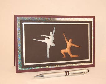 3D Greeting Card, 3D Art Card, 3D Silhouette Card -- Ballet Card