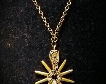 Steampunk Western Spur Necklace