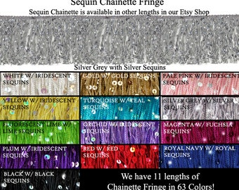 "6"" Sequin Chainette Fringe ~ Perfect for Performance, Dress or Dance Costume.  It really sparkles!"