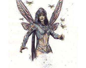 Mortal Kombat D'Vorah 8.5x11 Signed Art Print