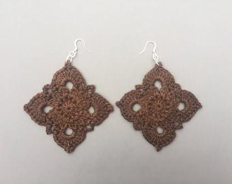 Crochet Earrings Gypsy Earrings Thread Earrings Boho Earrings Boho Chic Bohemian Earrings Beach Wedding Earrings Wedding Jewelry Mothers Day