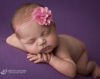 Bubblegum Pink Headbands, Bubblegum Pink Baby Headbands, Newborn Headbands, Baby Headbands, Pink Flower Headband