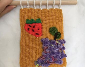 Strawberry & Grapes Wall Hanging