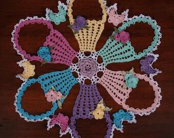 0775 Easter Basket Doily Crochet Pattern