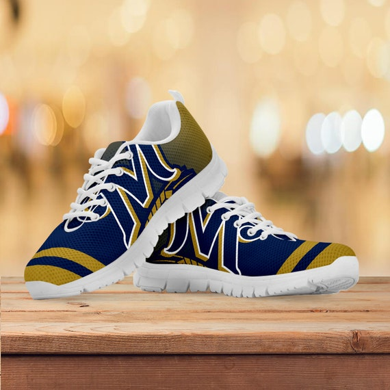 Trainers Sneakers Womens Running Kids Collector Gift Shoes Custom Milwaukee Mens Brewers Gift Sizes Gift Baseball Rq4Ingwxt