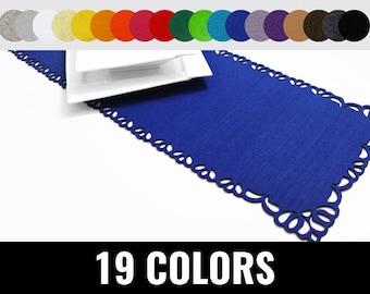 Felt runner, table runner, classic table runner, 19 colors - Classic