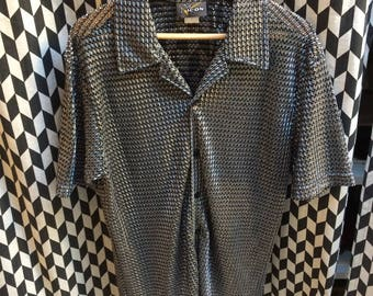 VINTAGE shirt Disco Retro 60's / 70's L