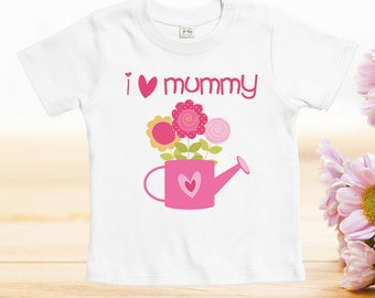 I love mummy tshirt, Mother's Day Tshirts, funny designs for baby, mother day gift, custom baby clothes, baby onesies, cute onesies