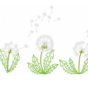 Dandelion flowers mini embroidery designs, small sizes - dandelion machine embroidery designs, for hoops 4x4 and 5x7 INSTANT DOWNLOAD