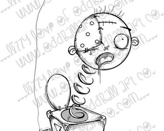 Digi Stamp Digital Instant Download Spooky B-Cute ~ Jacks Box of Horror Image No. 213 by Lizzy Love
