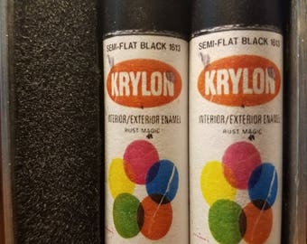 One Pair of 18650 Custom Battery Wraps - Vintage Krylon