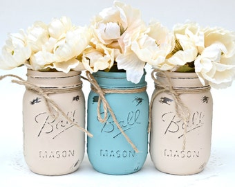 Mason Jars, Mason Jars Bulk, Dorm Decor, Painted Mason Jars, Spring Centerpiece, Wedding Centerpiece, Fall Centerpiece, Winter Centerpiece