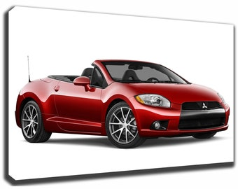 MITSUBISHI ECLIPSE Canvas/Poster Wall Art Pin Up HD Gallery Wrap Room Decor  Home Decor