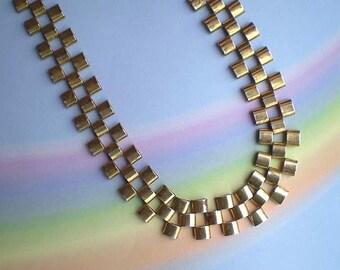 Vintage 60s Egyptian Revival Modernist Necklace