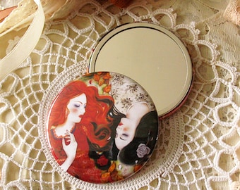 Pocket Mirror - Snow-White and Rose-Red