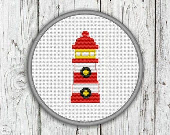 Lighthouse Counted Cross Stitch Pattern, DIY - Instant Download