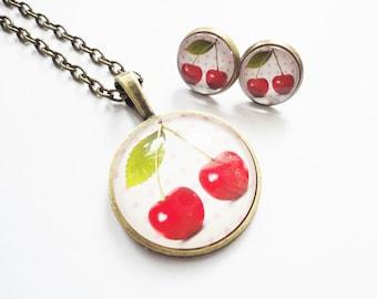 Set jewelry Cherry