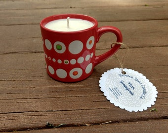 Pink Grapefruit - Soy Wax Tea Cup Candle