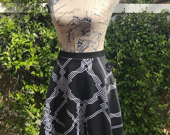 Black & white circle skirt
