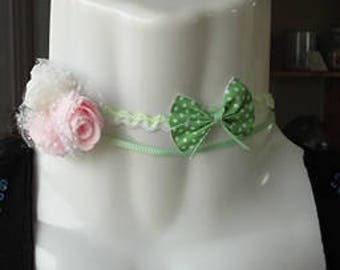 Choker double bow and roses