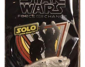 Starwars Han Solo chewbacca Disney Pin Original