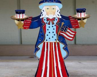 Vintage Uncle Sam Candle Holder