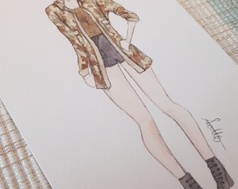 TS fashion watercolor illustration