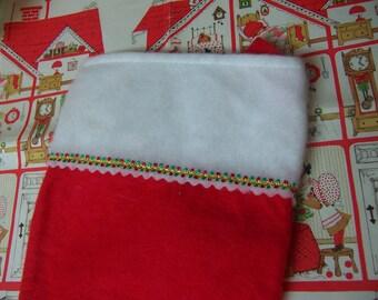 1978 garfield fleece felt christmas stocking