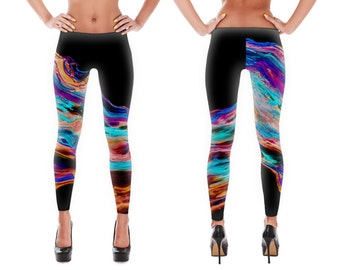 SALE - colorful yoga leggings, yoga pants, leggings, printed leggings, womens leggings, workout legging, print leggings, yoga clothes
