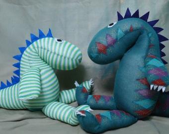 Custom Handmade Sock Dinosaur
