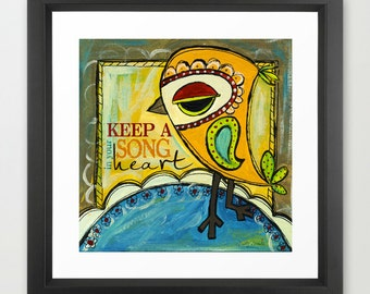 Keep A Song In Your Heart - Fine Art Print