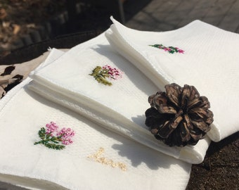 3Hankie set - for small flowers