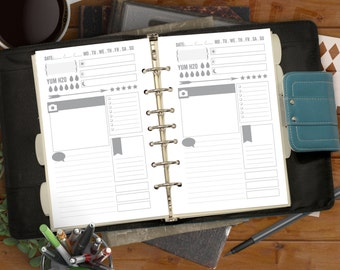 Snapshot Day Printable PDF, Daily Planner PDF for your Half-Letter Planner. Planner Downloads for Home Binder & Day Planner Refill.
