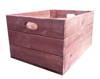 Handmade Wooden Crate Storage Box
