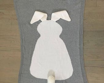 bunny blanket newborn blanket nursery decor baby shower gift bunny ears easter gift photography blanket