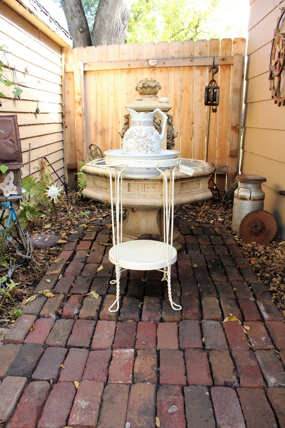 Antique Wash Stand For Pitcher and Bowl Rustic Farmhouse Decor