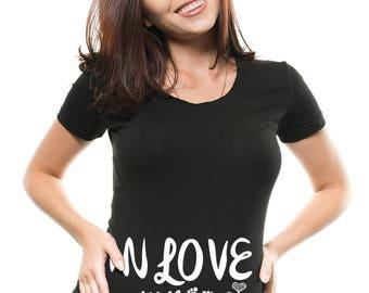 Pregnancy Top Cute Maternity T-Shirt Birth Announcement True Pregnancy T-Shirt