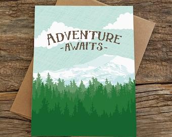 Abschluss-Karte / Abenteuer erwartet