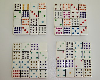 Domino Tile Coaster Set, Real, Genuine Domino Tiles, New and Minty!
