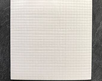 15 x 15 cm - 3mm foam pre-cut with sticky pads for double sided 3D mounting