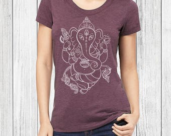Ganesh, Ganesh Tshirt - yoga tee, buddhist, graphic tee, yoga t shirt, womens, t shirt, yoga tshirt, graphic tees