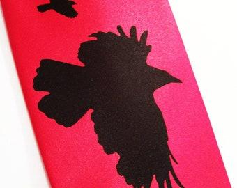 RokGear Necktie - Mens necktie, Red tie Crow design, available in over 50 different necktie colors