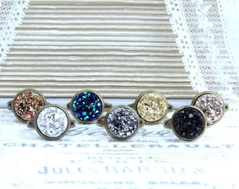Clearance Rings Faux Druzy Rings Clearance Sale Adjustable Ring Clearance Druzy Jewelry