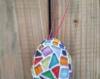 Mosaic Egg (9cm x 6cm), glass tile egg for Easter or other occasions
