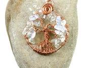 Opal tree-of-life pendant...